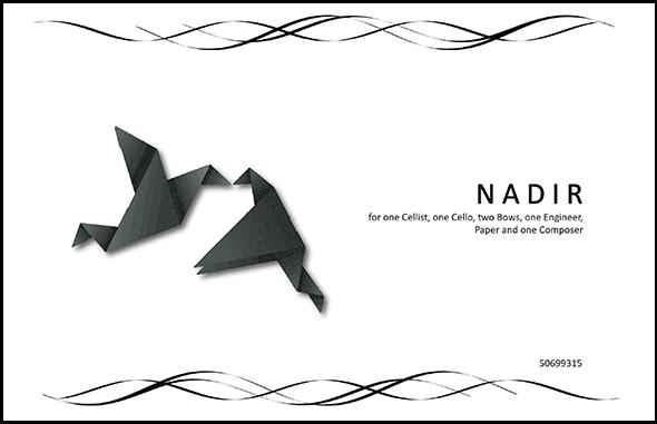 NADIR for Cello Solo by Edgar Barroso