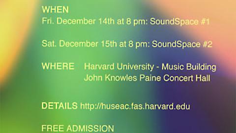 """IOD"" and ""La Percusión de tu Frecuencia"", performed by Jessi Rosinski at the Hydra Concert. John Knowles Paine Concert Hall – Harvard University"