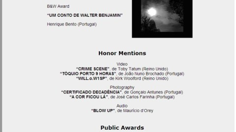 """CYT"" Best Audio Work award at 5th International Black&White Audiovisual Festival"