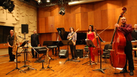 """Ensemble Nikel"" premieres ""Noemata"" for Saxophone, Electric Guitar, Piano and Percussion by Edgar Barroso – February 18, 2012 / Harvard University"