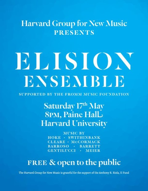 """Innateness is Modular"" by Edgar Barroso premiered by Elision Ensemble at Harvard University"