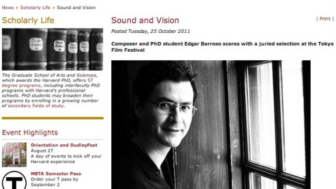 """Sound and Vision"" / Article from the Graduate School of Arts and Science – Harvard University"