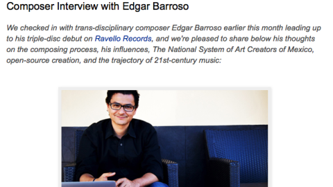 Interview with Edgar Barroso, on his triple disc review on Ravello Records.
